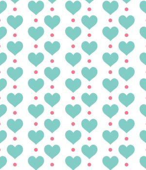 Hearts Roller Blind Pattern