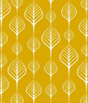 Sea-Leaves-Mustard-Roller-Blind