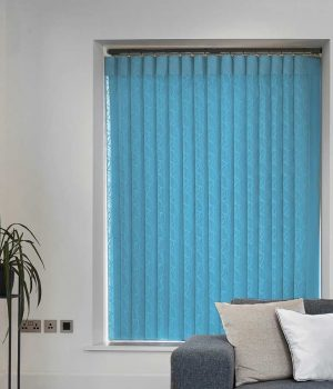 Oval Baby Blue Allusion Blind