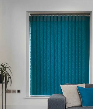 Oval Teal Allusion Blind