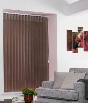 Stripe Light Brown Allusion Blinds