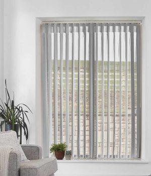 Stripe Light Grey Allusion Blind