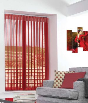 Stripe Red Allusion Blind