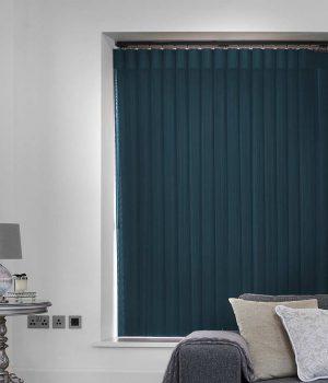 Stripe Royal Blue Allusion Blind