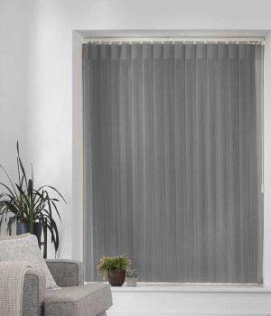 Stripe Silver Allusion Blind
