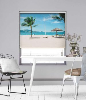 Summer Beach Scene Photo Roller Blind