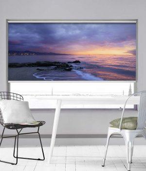 Sunset over The Ocean Photo Roller Blind