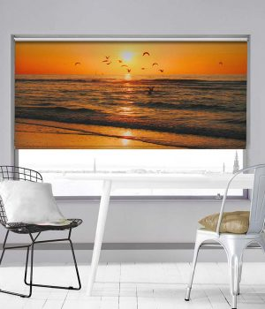 Sunset North Sea Photo Roller Blind