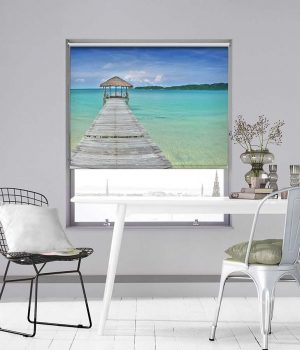 The Pier to Paradise Photo Roller Blind