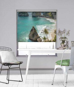 Tropical Tree Diamond Beach Roller Blinds