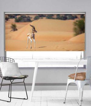 Deer in desert Roller Blind