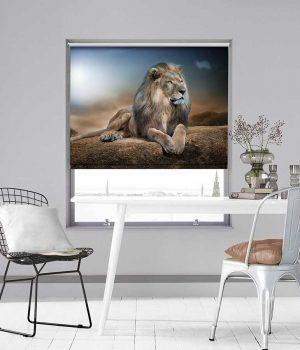 Lion Photo Roller Blind
