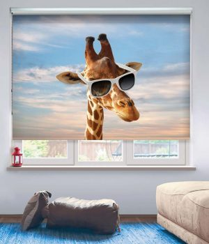 The Giraffe Head Photo Roller Blind