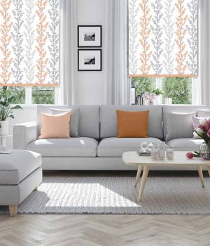 Branches-Cantaloupe-Roller-Blind