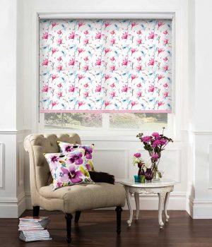 Waterflower-Magnolia-Roller-Blind