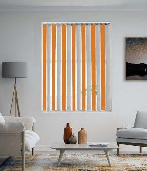 Cantaloupe-Orange-White-Vertical-Blind